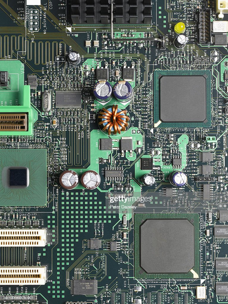 Computer mother board, close up