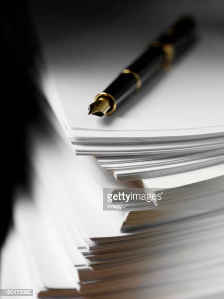 コンピューター用紙、インクペン