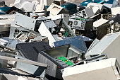 Dismantled computer parts for electronic recycling