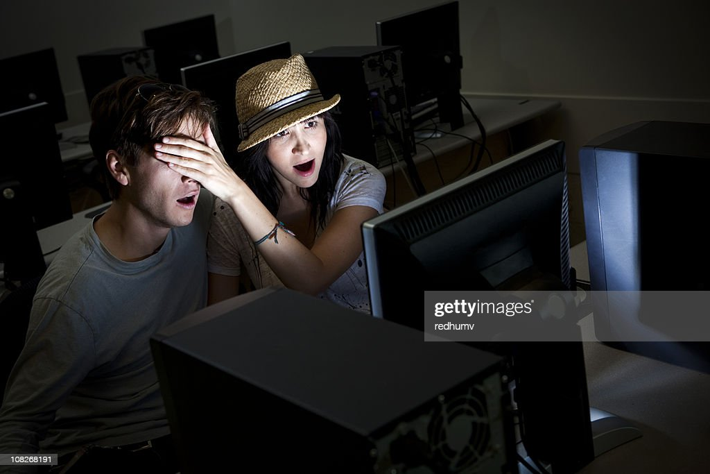 Computer Pornography with Boy and Girl