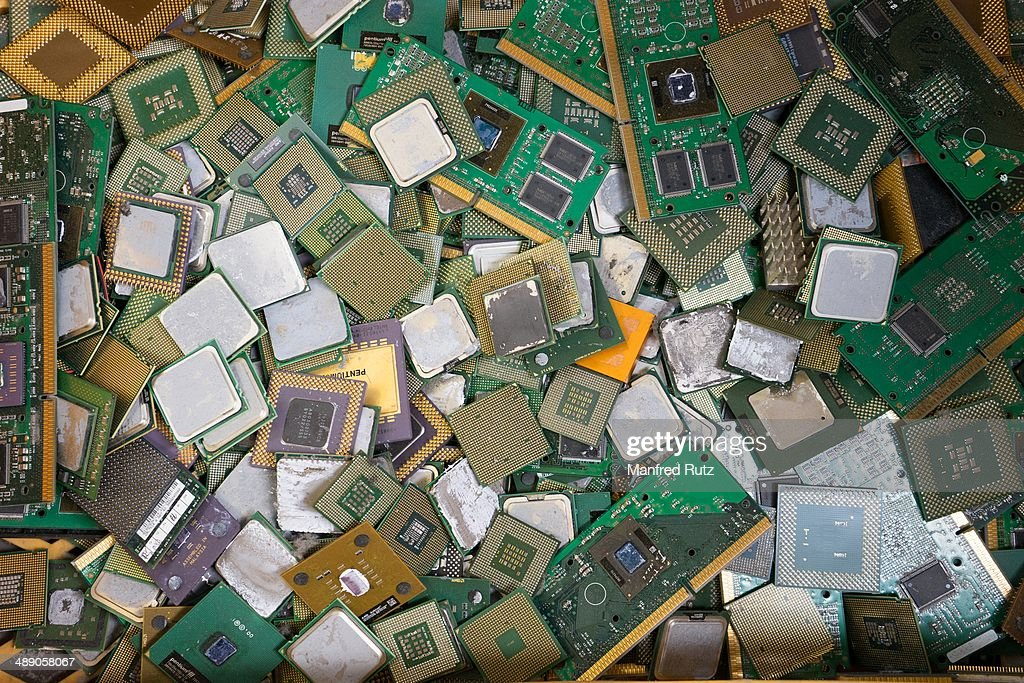 Computer processors electronic scrap collected