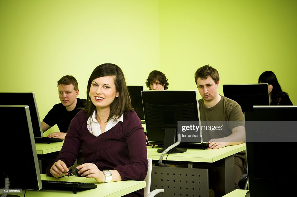 Computer room : Stock Photo