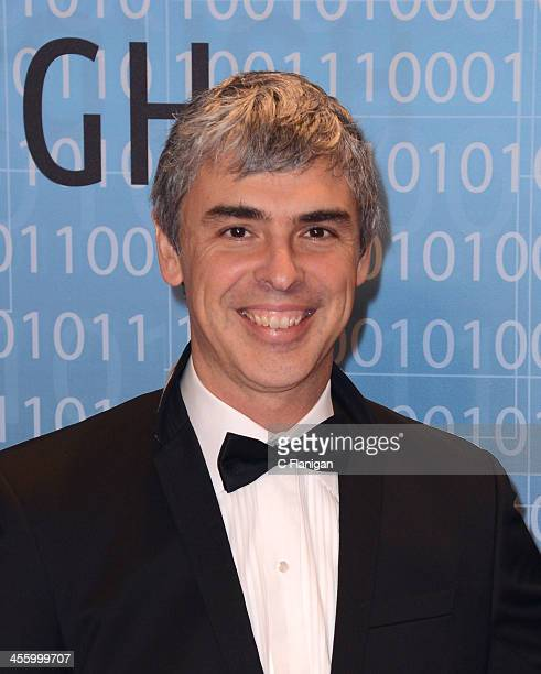 Computer Scientist Larry Page of Google arrives at the Breakthrough Prize Inaugural Ceremony at NASA Ames Research Center on December 12 2013 in...