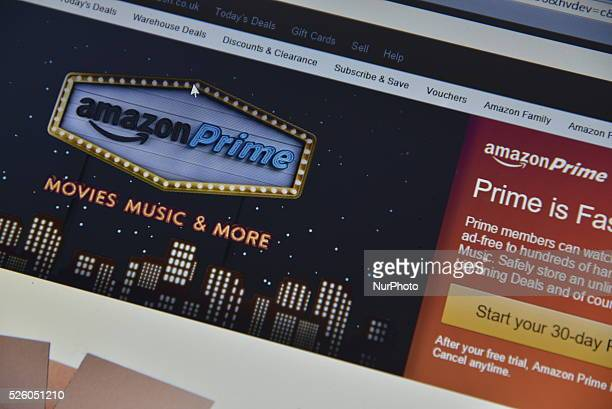 A computer screen displaying the Amazon Prime website on Friday 26th February 2016