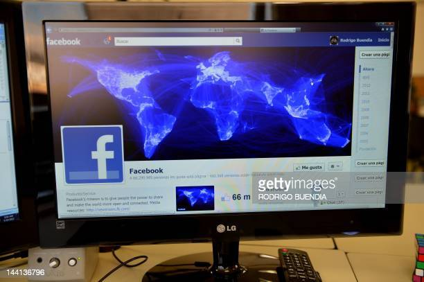 A computer screen showing a Facebook page in Quito on May 10 2012 AFP PHOTO/RODRIGO BUENDIA