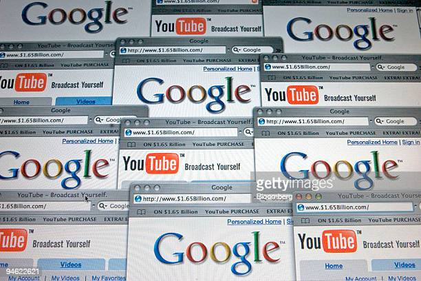 A computer screen showing the home pages of YouTube and Google photographed in Cambridge Massachusetts is shown Tuesday October 10 2006 Google Inc...