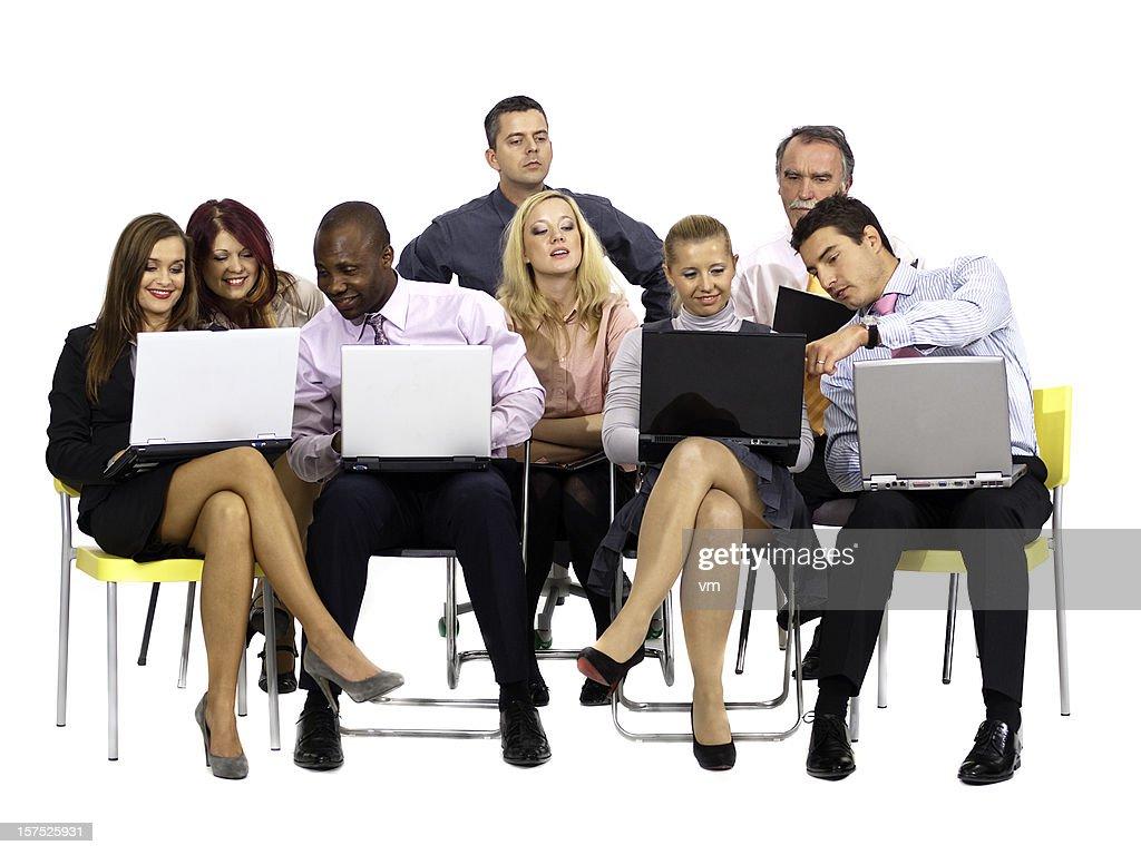 Computer seminar : Stock Photo