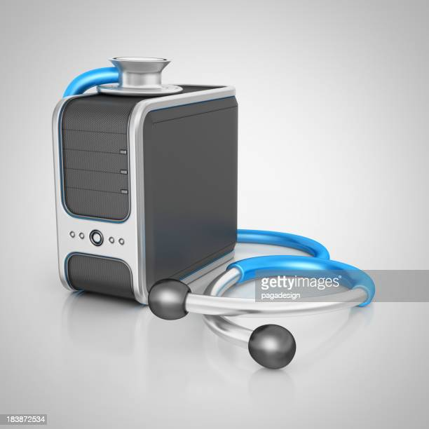 computer server and stethoscope