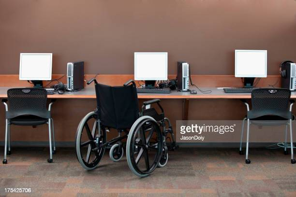 Computer Stations Wheelchair Access