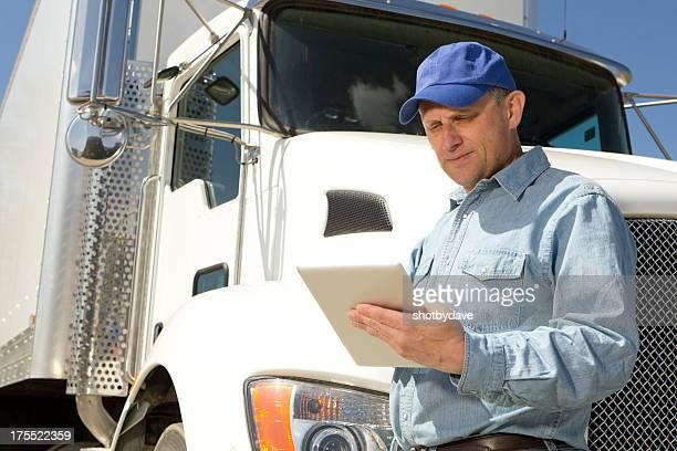 Computer Tablet und Trucker
