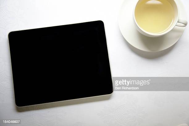 Computer Tablet on table top