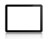 Computer Tablet on white with clipping path
