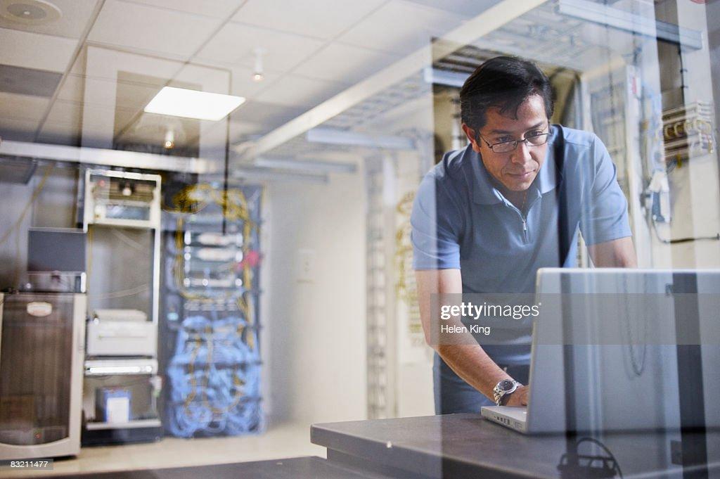 Computer Technician in Server Room