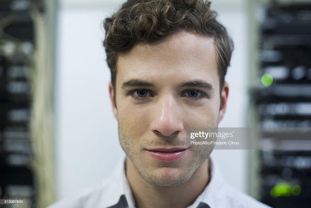 Computer technician, portrait