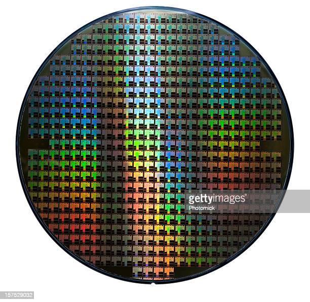 Computer wafer mit Regenbogen Farbe Muster