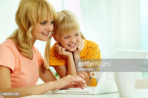 Computer work : Stock Photo