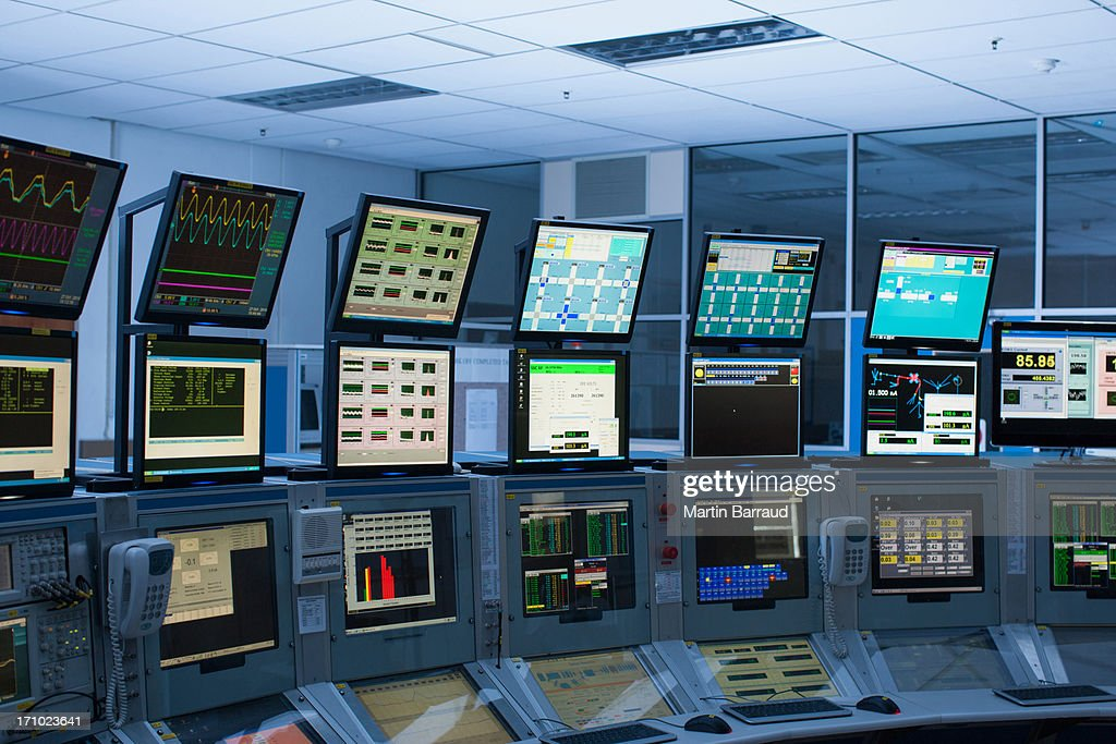 Computers in control room