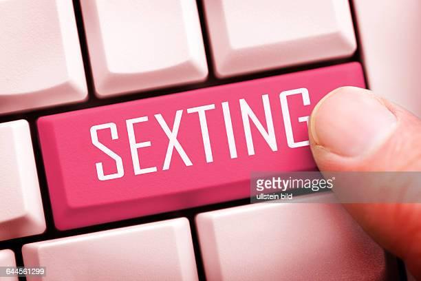 Computertaste mit dem Schriftzug Sexting