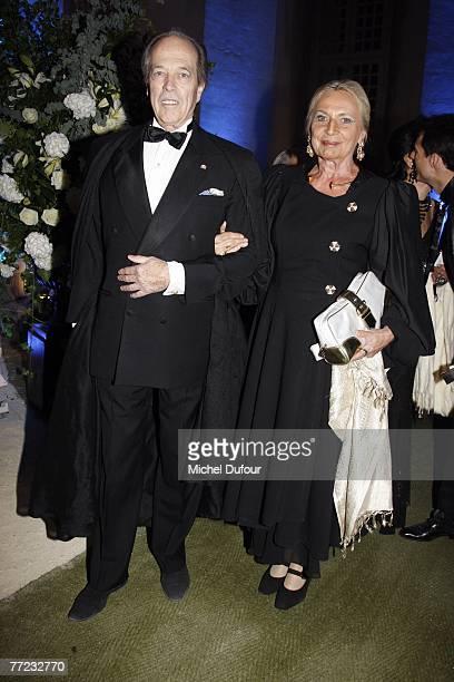 Comte de Paris Henri d'Orleans and his wife Micaela Cousino Quinones de Leon arrive at the Fondation Pour L'Enfance Ball at the Palais de Versailles...