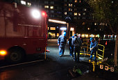 Con Edison emergency crews respond to flooding caused by Hurricane Sandy Many Lower Manhattan neighborhoods lost power due to flooding