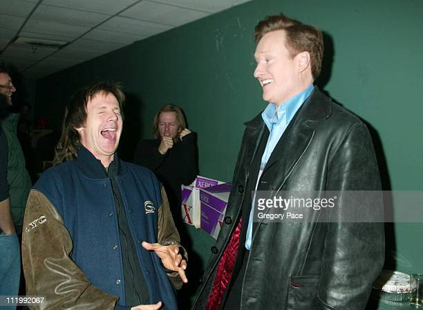 Conan O'Brien and Dana Carvey backstage during Night of Too Many Stars Evening to Benefit The Autism Coalition at Roseland Ballroom in New York NY...