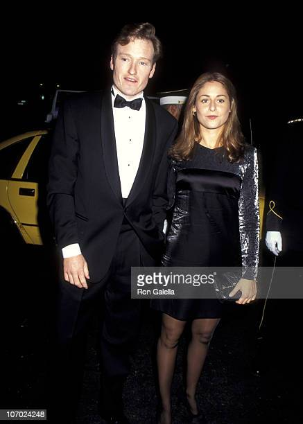 Conan O'Brien and Girlfriend Lynn Kaplan during Wedding of Dan Klores Abbe Goldman at Plaza Hotel in New York City New York United States