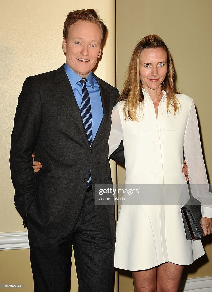 Conan O'Brien and wife Liza Powel O'Brien attend the Children's Defense Fund's 22nd annual 'Beat the Odds' Awards at the Beverly Hills Hotel on December 6, 2012 in Beverly Hills, California.