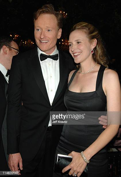 Conan O'Brien and wife Liza Powell during 58th Annual Primetime Emmy Awards Governors Ball at The Shrine Auditorium in Los Angeles California United...
