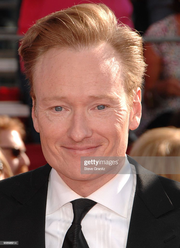 Conan O'Brien arrives at the 60th Primetime Emmy Awards at the Nokia Theater on September 21 2008 in Los Angeles California