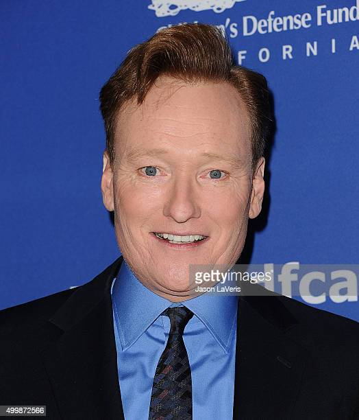 Conan O'Brien attends the 25th annual Children's Defense Fund Beat The Odds Awards at the Beverly Wilshire Four Seasons Hotel on December 3 2015 in...