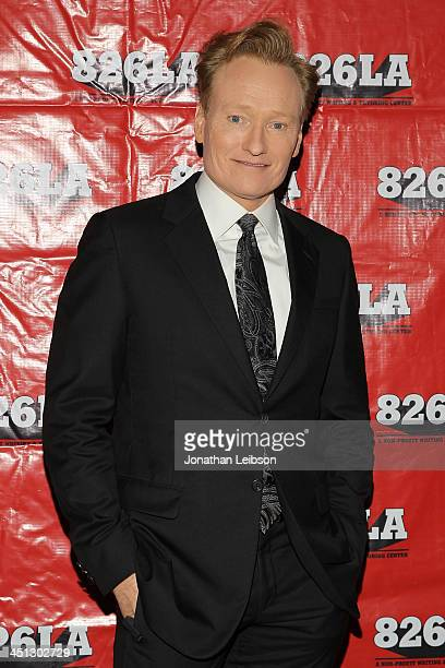 Conan O'Brien attends the Adam McKay And Judd Apatow Present 'Anchorman A Benefit' For Nonprofit 826LA at The Broad Stage on November 21 2013 in...