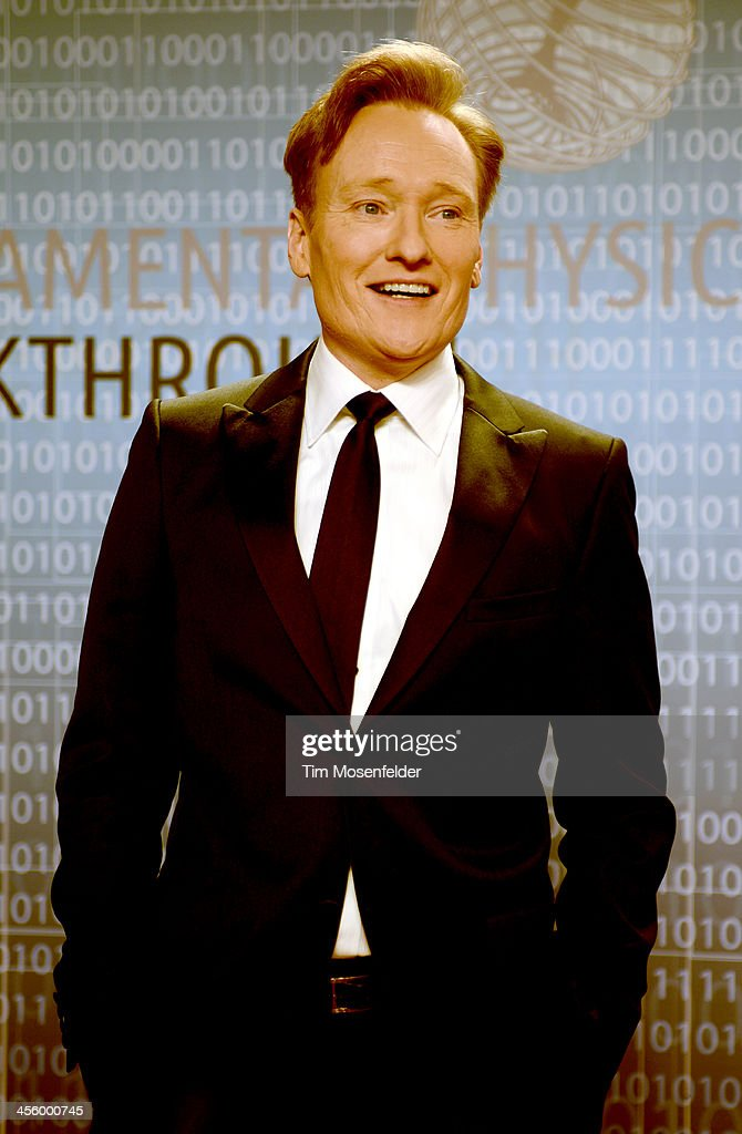 <a gi-track='captionPersonalityLinkClicked' href=/galleries/search?phrase=Conan+O%27Brien&family=editorial&specificpeople=208095 ng-click='$event.stopPropagation()'>Conan O'Brien</a> attends the Breakthrough Prize Inaugural Ceremony at Nasa Ames Research Center on December 12, 2013 in Mountain View, California.