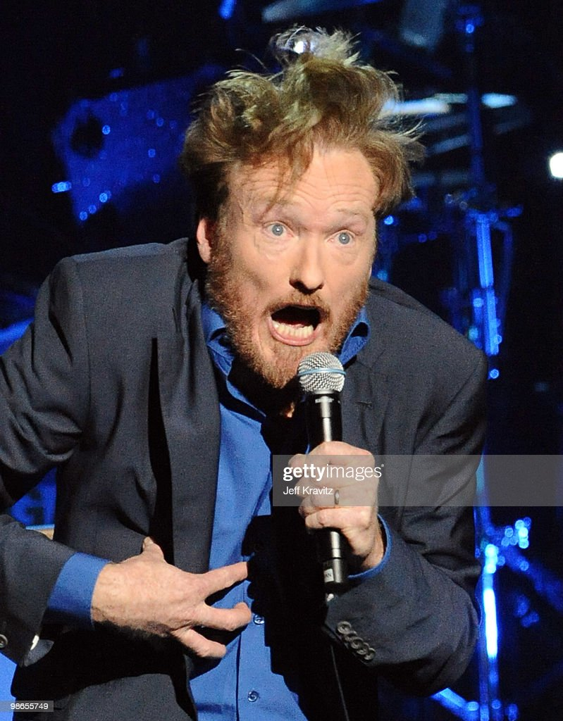 Conan O'Brien performs in concert at Gibson Amphitheatre on April 24 2010 in Universal City California