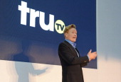 Conan O'Brien speaks at the star studded VIP launch party for truTV a brand new larger than life TV channel launching on 4th August at the truMan...
