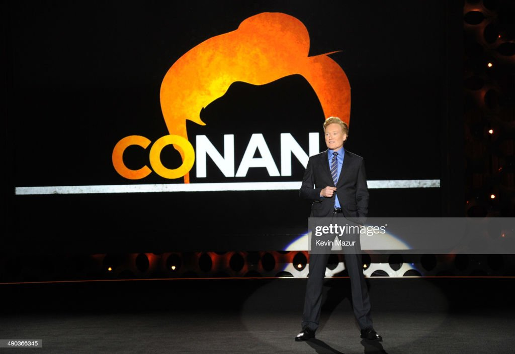 Conan O'Brien speaks onstage at the TBS / TNT Upfront 2014 at The Theater at Madison Square Garden on May 14 2014 in New York City 24674_001_1142JPG