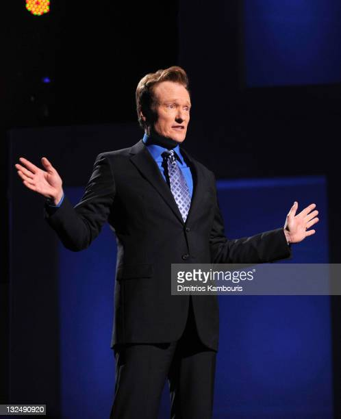 Conan O'Brien speaks onstage at the TEN Upfront 2011 at Hammerstein Ballroom on May 18 2011 in New York City 21147_007_DK_848JPG