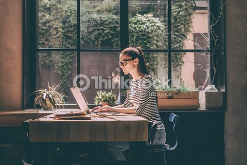 Concentrated at work. : Stock Photo
