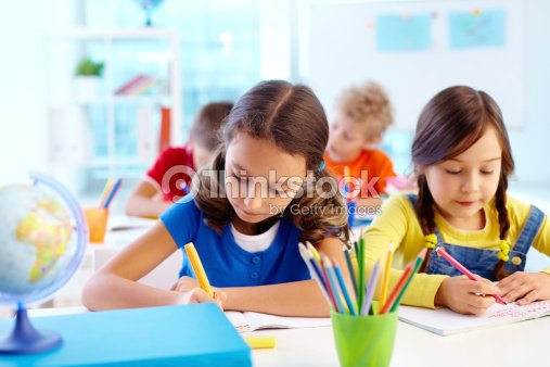 Concentrated pupils : Stock Photo