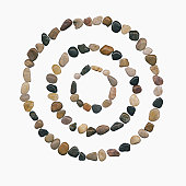 Concentric circles of stones