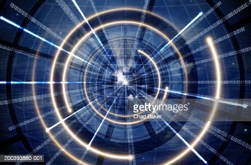 Concentric circles with binary code : ストックフォト