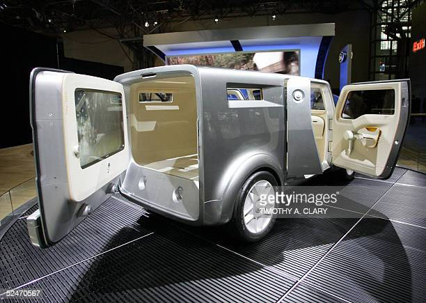 A concept car by Ford is seen during the 2005 New York Auto Show at the Jacob Javits Convention Center in New York 23 March 2005 The show will run...