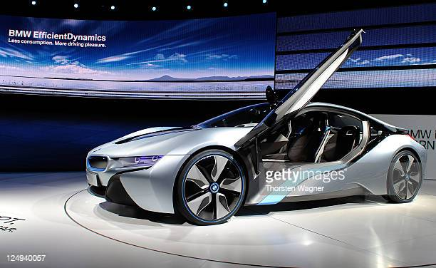 Concept car i8 is pictured during the press days at the IAA Frankfurt Auto Show on September 14 2011 in Frankfurt am Main Germany The IAA will be...