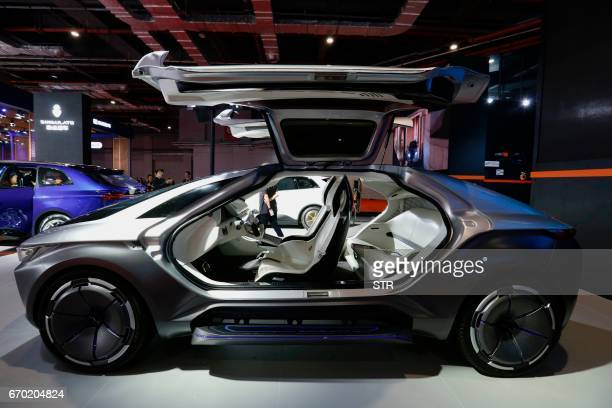 Concept car is displayed during the first day of the 17th Shanghai International Automobile Industry Exhibition in Shanghai on April 19 2017 Global...