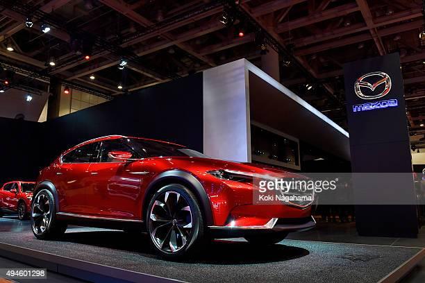 Concept car Koreu of MAZDA Motor Corporation is displayed during the Tokyo Motor Show 2015 at Tokyo Big Sight on October 28 2015 in Tokyo Japan