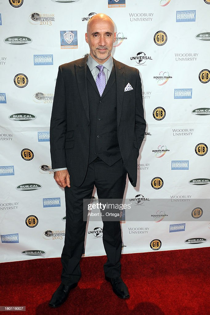 Concept Designer Neville Page arrives for The Burbank Film Festival - Closing Night Gala Dinner and Awards Ceremony held at Castaways on September 8, 2013 in Burbank, California.