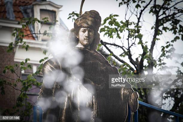 LEIDEN A concept for a statue of the 17th century painter Rembrandt van Rijn is presented on Wednesday July 15 2015 The concept has been created by...
