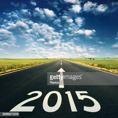 Concept - Forward to 2015 new year : Stock Photo