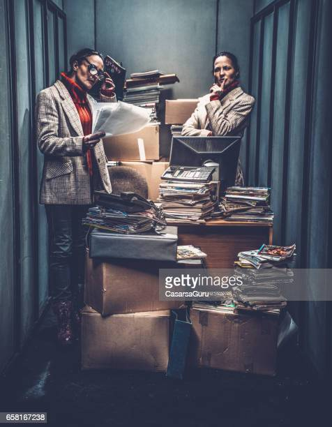 Concept image of a Stressful Day in a Tiny Office