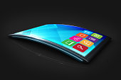New generation curved mobile technology and applications.