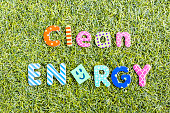 Concept of a clean energy  against the global warming